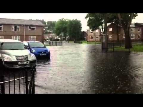 Floods In Whitefield Manchester