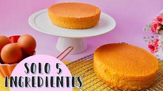 Pastel Esponja de Vainilla | Pastel 5 Ingredientes | Ale Hervi #basicosdereposteria