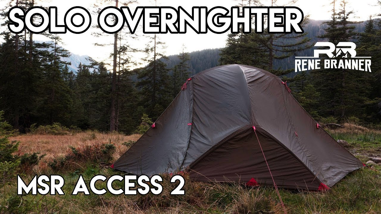 MSR Access 2 - Solo Overnighter ganz spontan. & MSR Access 2 - Solo Overnighter ganz spontan. - YouTube