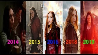 EVOLUTION of Scarlet Witch / Wanda in MCU Movies(2014-2019)Avengers Endgame
