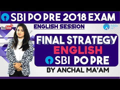 SBI CLERK PRE | Final Strategy For English| SBI PRE SPECIAL | Anchal mam