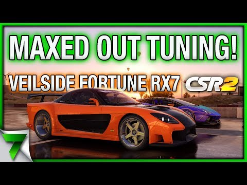 MAX OUT MAZDA VEILSIDE FORTUNE RX-7 TUNING CHALLENGE! | CSR Racing 2