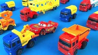 COLLECTION ENGINEERING TRUCK SERIES SET TANKER SEMITRUCK DUMP & TOW TRUCK EXCAVATOR CAR TRANSPORTER