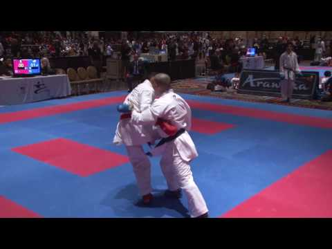 2017 US Open Elite Male Kumite -60 Kg Jamie Anaya MEX vs Dany Cabello USA