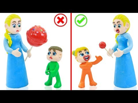 SUPERHERO BABY MOTHER CARE LOLLIPOP 💖 Cartoons Play Doh Stop Motion