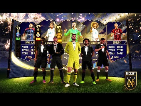 INSANE BRAZILIAN WALK OUT!!! LIGHTNING ROUND PACKS FOR TOTY DEFENDERS! FIFA 18 Ultimate Team