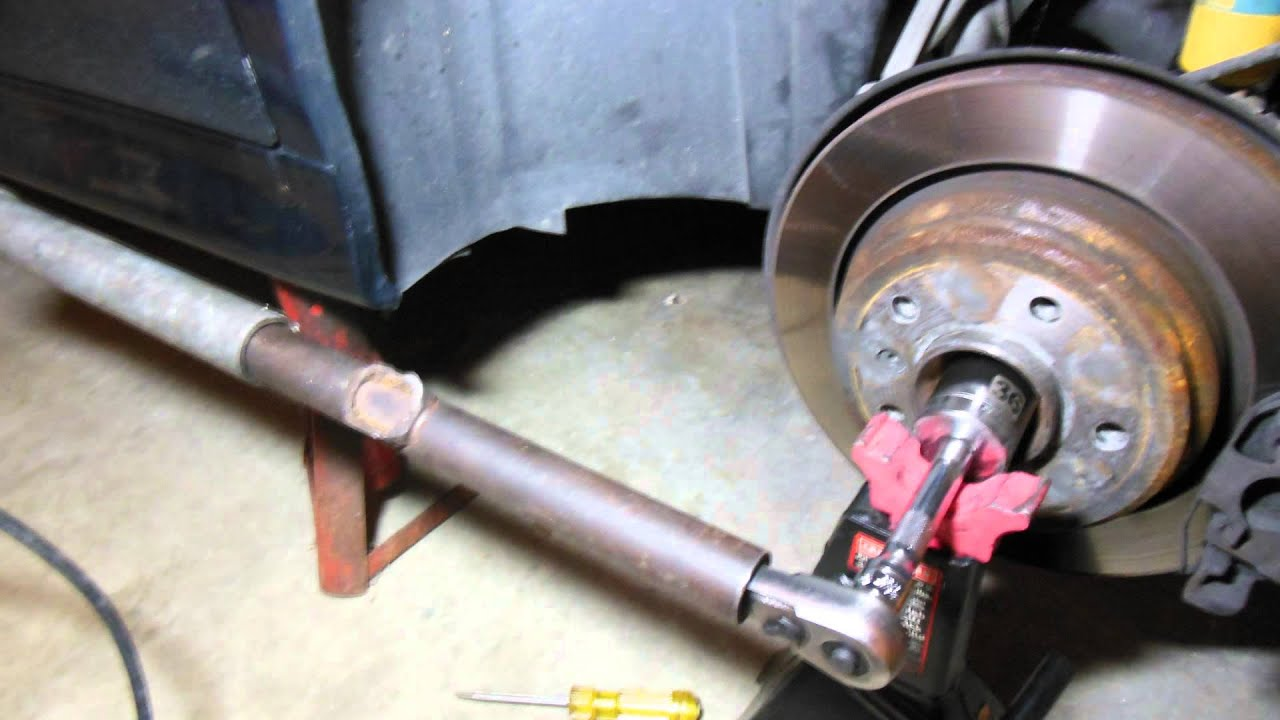 service manual   replace front bearing