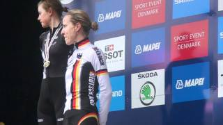 UCIロード世界選エリート女子個人タイムトライアル表彰式