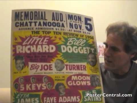Little Richard Concert Posters 1950s Window Cards Pt. 1