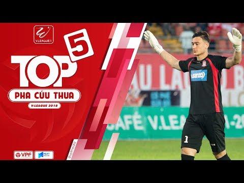 Đặng Văn Lâm phản xạ như De Gea dẫn đầu top 5 pha cứu thua tại V-League 2018 |  VPF Media