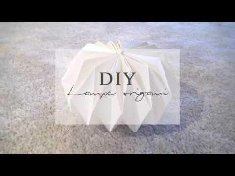 Diy Lampe Origami Pierre Papier Ciseaux Youtube