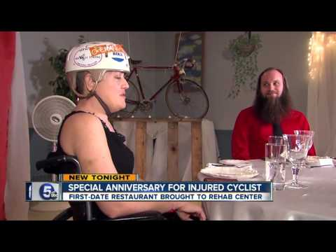 Special anniversary for injured cyclist