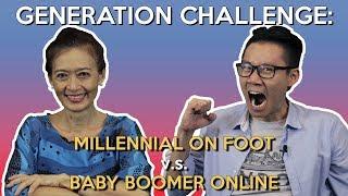 Generation Challenge: Millennial on Foot v.s. Baby Boomer Online
