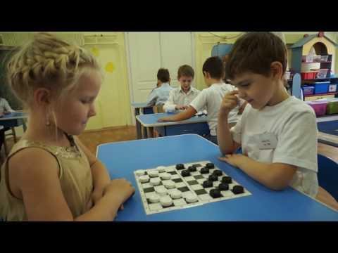 Детский Сад. Игра в шашки.
