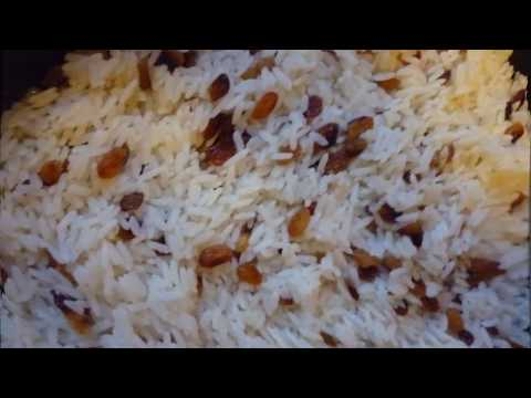 Сладкий рис с изюмом рецепт