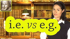 i.e. vs e.g. | Basic English Grammar Rules | ESL | SAT | TOEFL