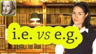 i.e. vs e.g. | Basic English Grammar Rules | ESL | SAT | TOEFL