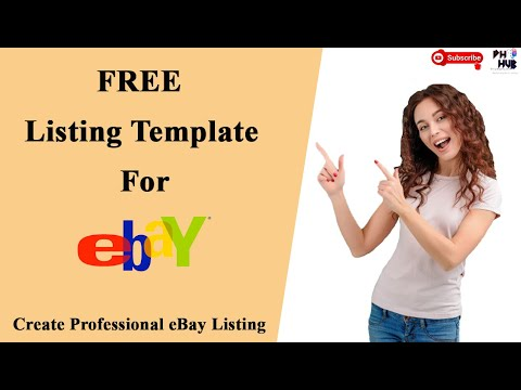 Free Listing Template For EBay- Create Professional EBay Listing|Grow Sales| HTML Listing Template