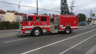 LAFD NEW Engine 7 Clearing The Scene
