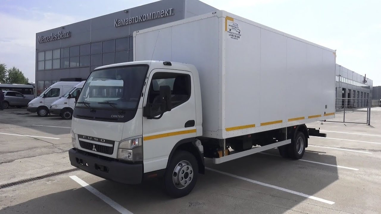2016 Mitsubishi Fuso Canter FE85DJ  Start Up, Engine, and In Depth Tour