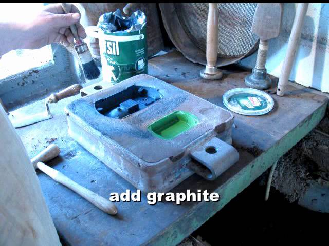 Foundry: Green sand moulding with natural sand