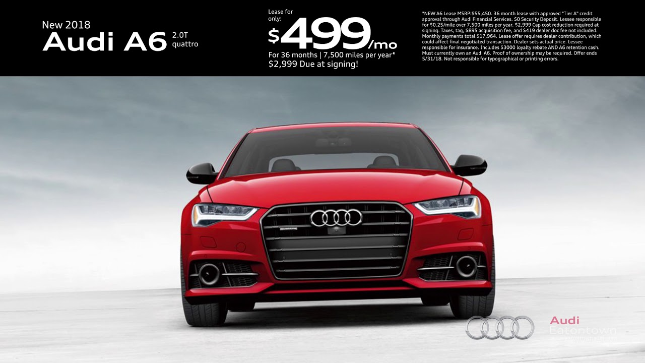 May Audi A Lease Special YouTube - Audi a6 lease