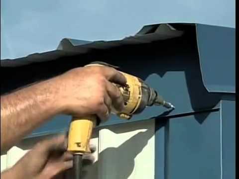 Metal Building Installation Step 21 Eave Trim Youtube