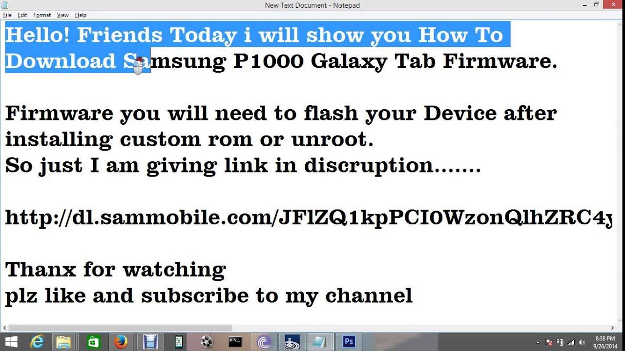 Samsung gt p1000 latest firmware.
