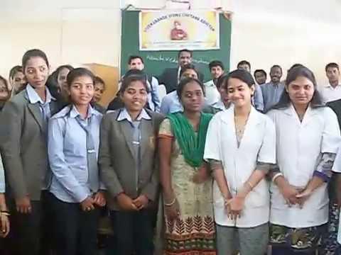 With Students of Vivekananda Pharmacy College, Bangalore : Umesh Chandra Panda