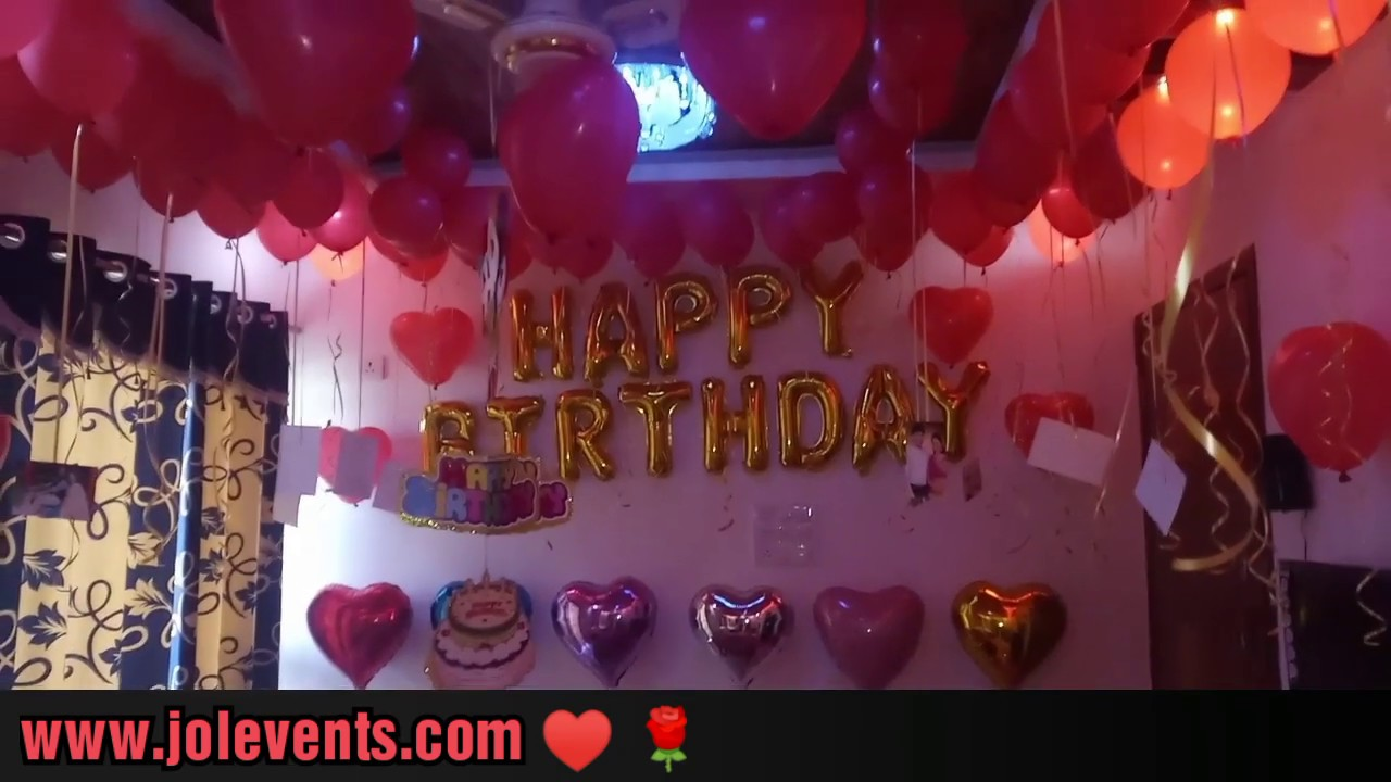 Home Decoration Ideas For Birthday Party Balloon Room Youtube