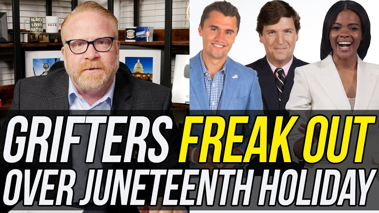 Watch Candace Owens, Charlie Kirk, & Tucker Carlson FREAK OUT Over Juneteenth Federal Holiday!