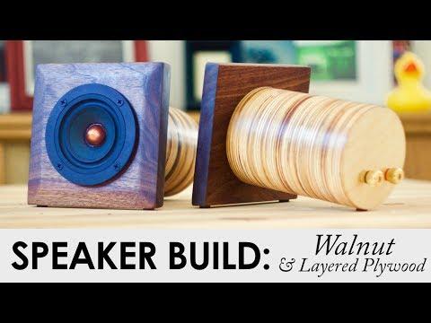 Layered Plywood Point Source Speakers | DIY Speaker Build