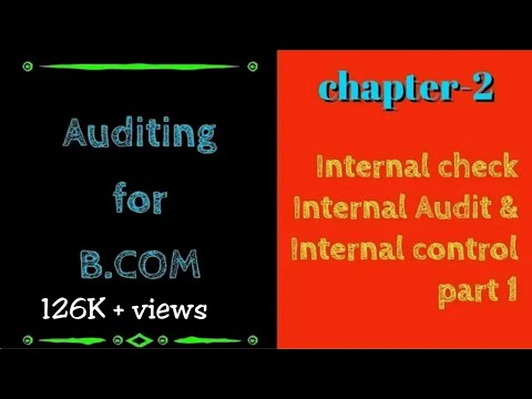 Internal Check Chapter 2 of Auditing | AUDITING Lectures for B.COM 2ND YEAR | SOL & REGULAR | part 1