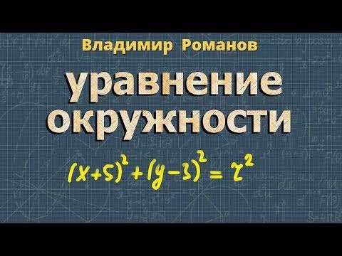 Видеоурок уравнение окружности 8 класс