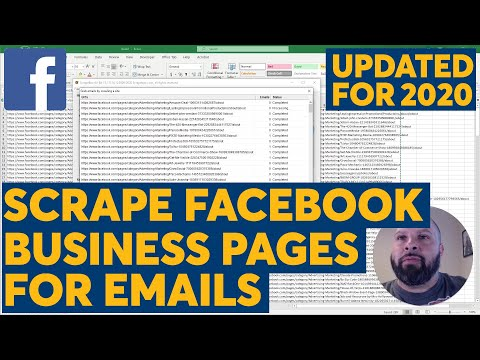 Scrape Emails From Facebook Business Pages With Scrapebox : Updated Method For 2020