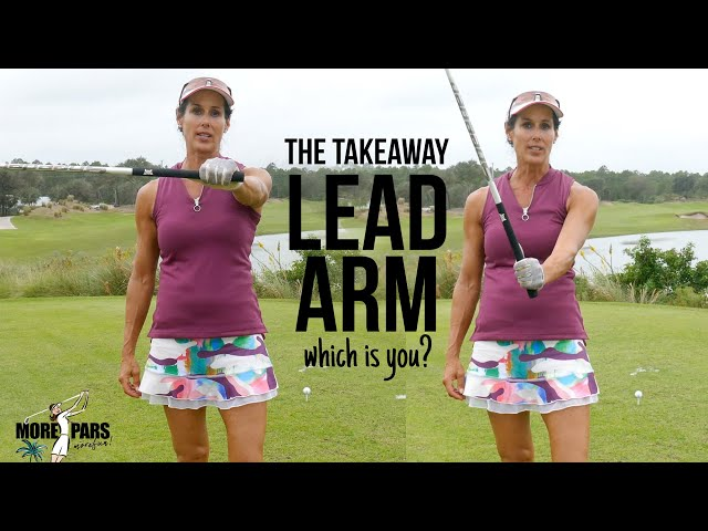 GOLF TIP\: Lead Arm During TAKEAWAY (what\'s it doing?)