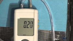 Checking HVAC filter pressure drop