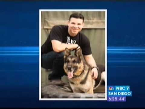 Marine Mike Dowling on Rex, his hero dog