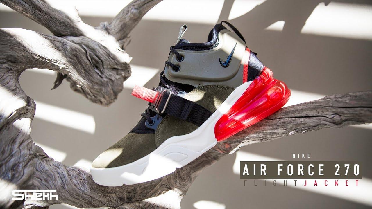 af894f183b8eaf FIRST LOOK  Nike Air Force 270  Flight Jacket Medium Olive