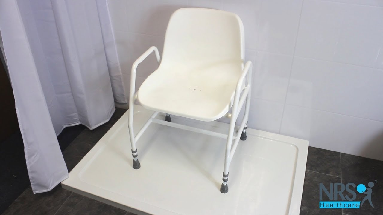 Height Adjustable Shower Chair Review - YouTube