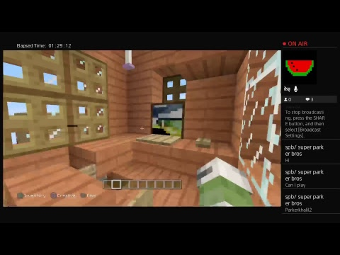 xX_Nathan_Xx06's Live PS4 Broadcast (Playing MC )  making the island WAY better