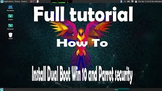 Install Dual Boot Parrot Sec and Win 10
