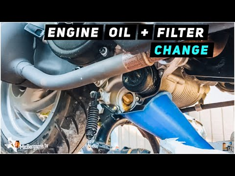 2013 + piaggio fly 150 - engine oil / oil filter change - youtube