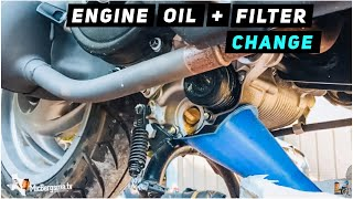 2013 + Piaggio Fly 150 - Engine Oil / Oil Filter Change | Mitch's Scooter Stuff