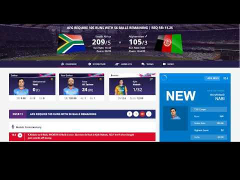 South Africa vs Afganisthan world cup T20 live Streaming