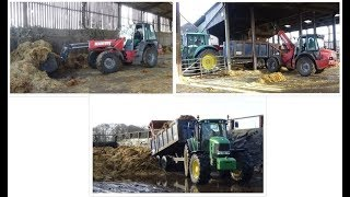 Mucking Out - Loading & Carting Muck with Manitou and John Deere plus GoPro footage