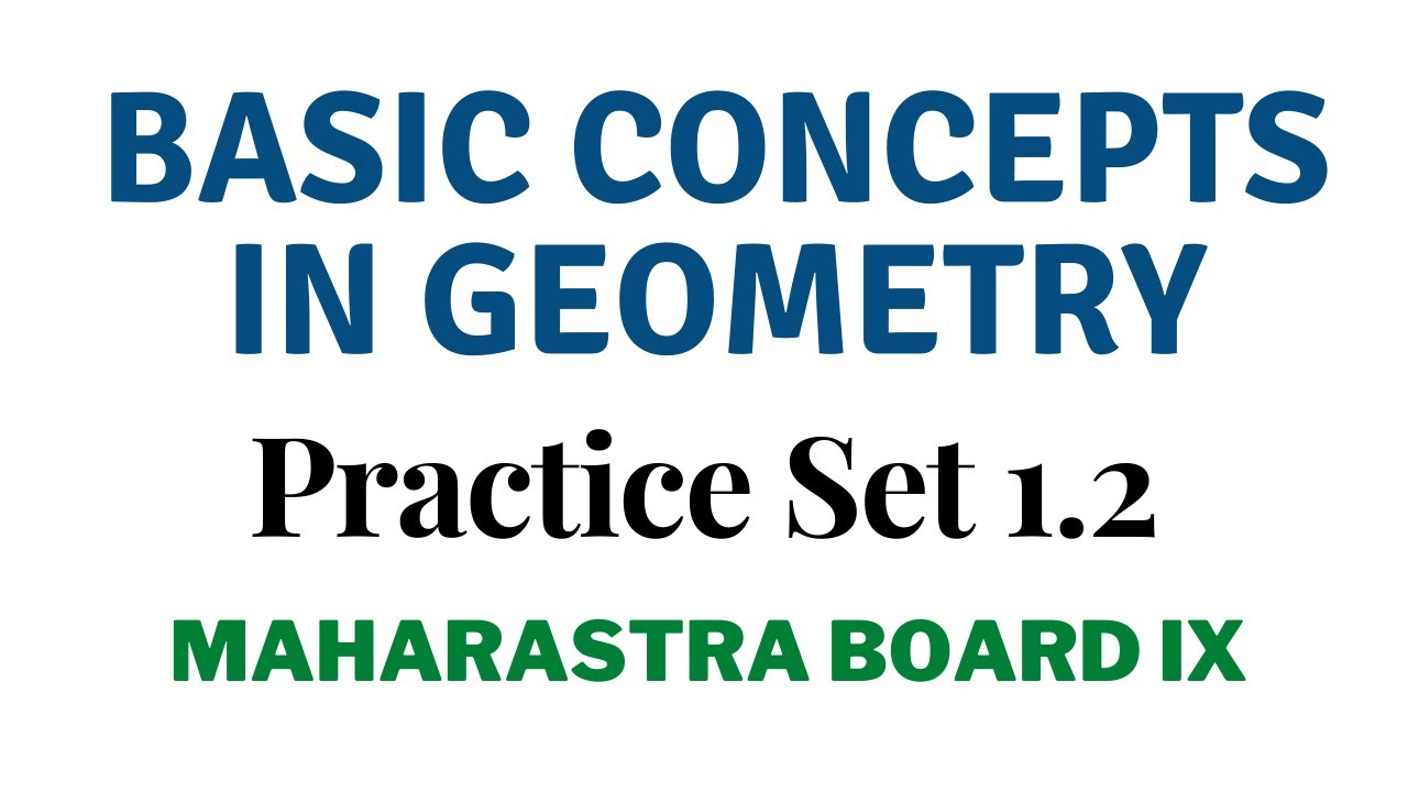 SSC Class 9 | Geometry | Basic Concepts In Geometry ...