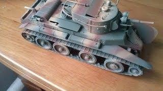 СБОРНЫЕ МОДЕЛИ  Покраска аэрографом модели танка БТ-7 от Восточного экспресса