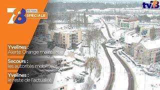 """7/8 Le Journal – Edition spéciale """"neige"""" du 7 février 2018"""