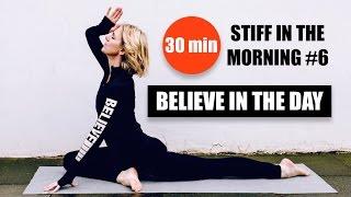 Video MORNING YOGA // Focus, Strength, Tone, Flexibility, 30 min // StiffInTheMorning #6 download MP3, 3GP, MP4, WEBM, AVI, FLV Maret 2018